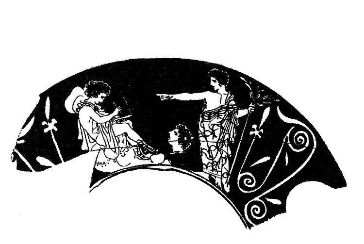 v.l. 1.) Autor mit Laptop, 2.) der Sänger Orpheus und 3.) Apollo, der Gott, der auf die Form achtet.