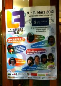 Plakat Literaturfest Minden